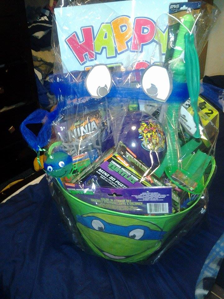 TMNT Birthday Gift Basket For Young Boyfree Shipping In US