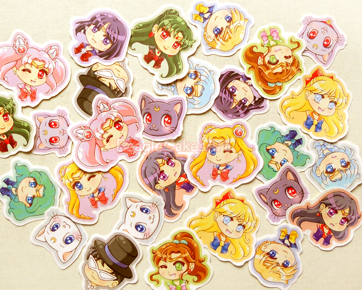 Super Sailor Moon Sticker Pack: Cute Anime Stickers, Kawaii Sticker  TH86