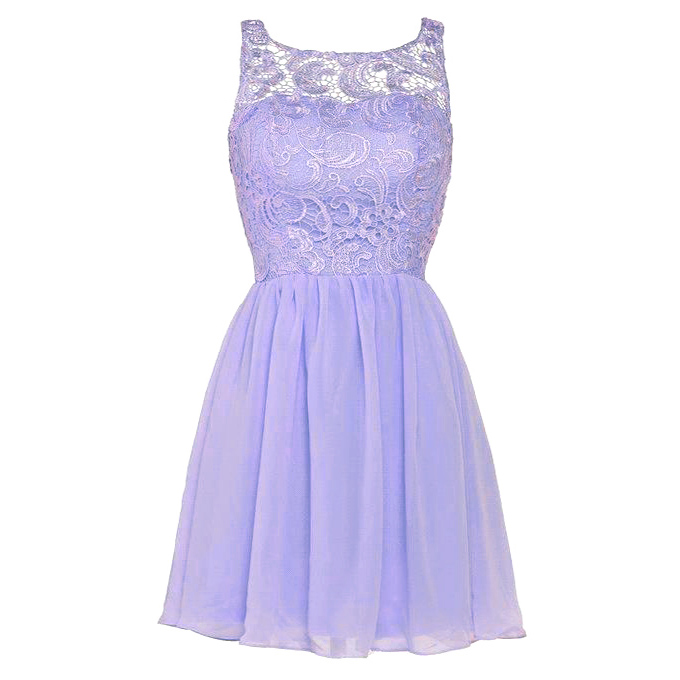 8eafa793c9 Lilac Square Neck Homecoming Dress with Appliques