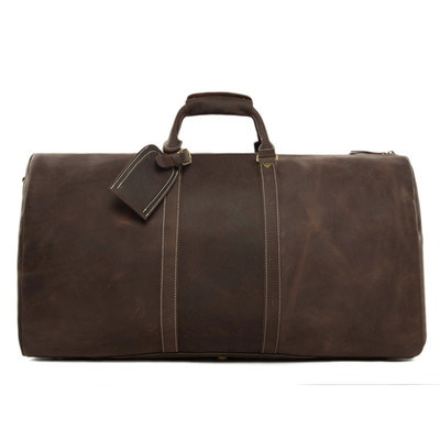 59e55c0e0f97 Extra large vintage genuine leather travel bag  duffle bag  handbag 12027