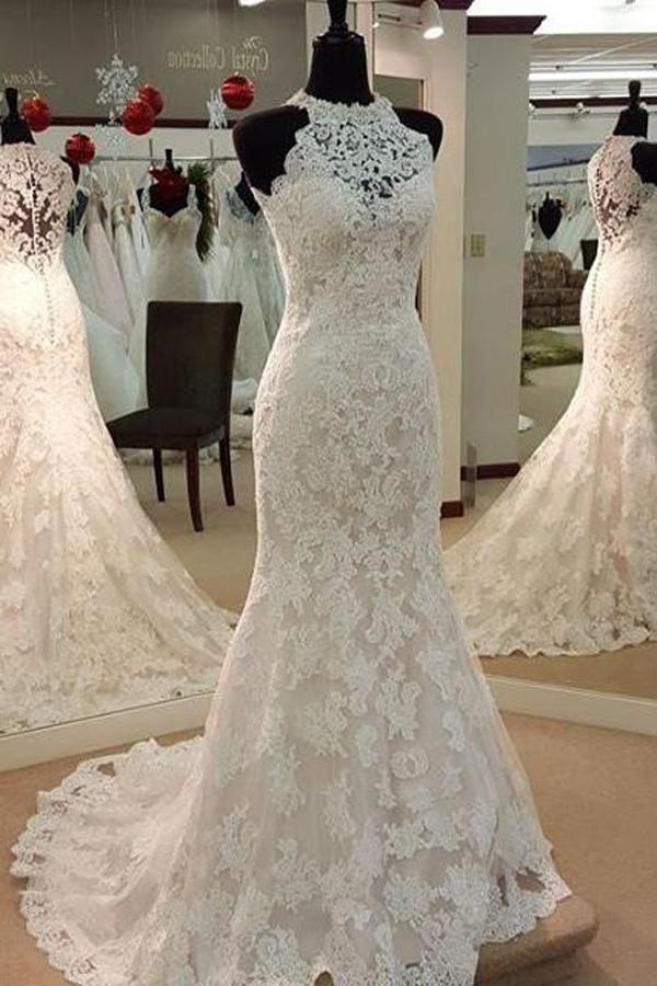 5797ee1d3 Long Mermaid wedding dress, Charming wedding dress, Dress for bridal, Lace wedding  dress, Pretty wedding dress,FS934 on Storenvy