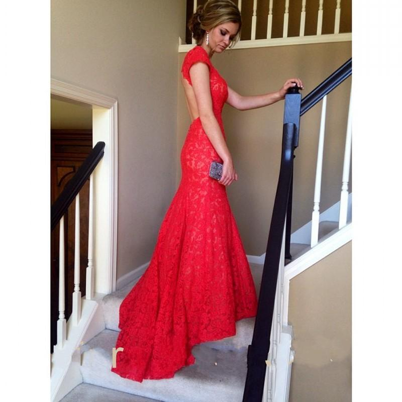 86ea375c88 Sexy Mermaid Prom Dresses Red Full Lace V neck Backless Evening Dresses  Party Gowns Turquoise Party Dresses on Storenvy