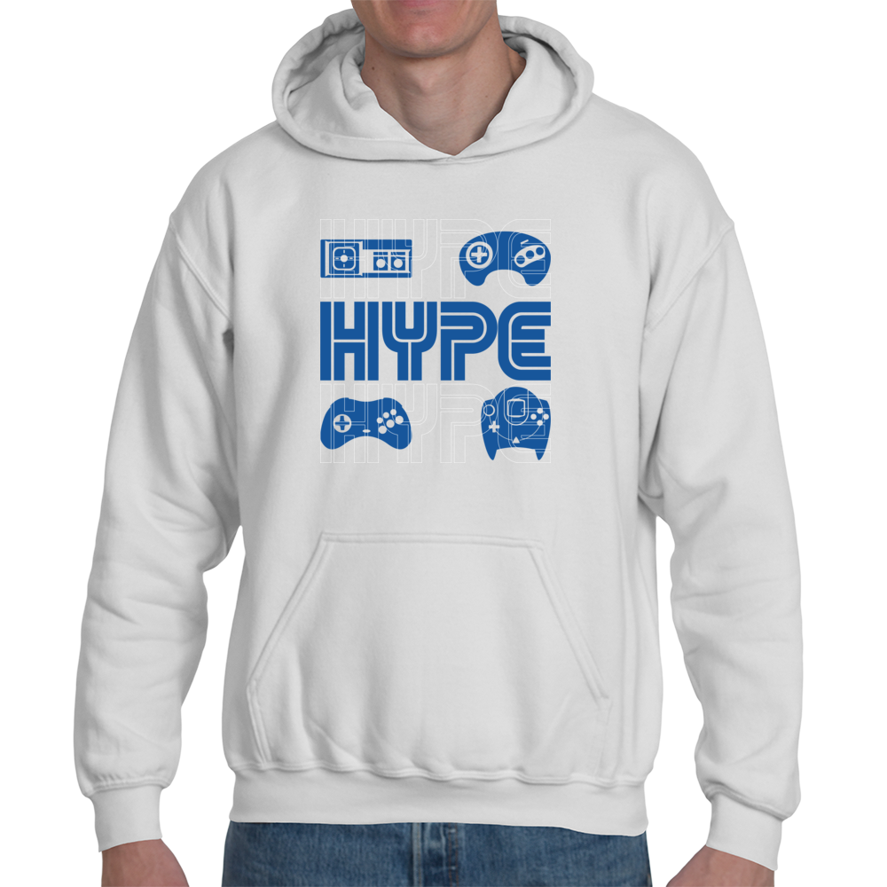 HYPE Hoodie, Sonic, Retro, Sega, Master System, Arcade, Dreamcast, Saturn,  Video Game, Genesis, Pullover from Nube Tees