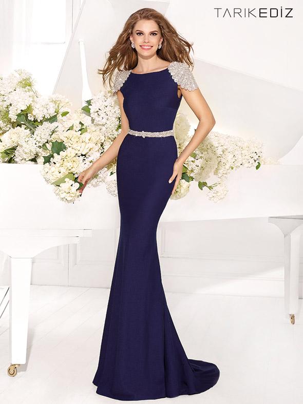 A204 Mermaid Cap Sleeve Prom Dresses, Royal Blue Evening Dresses ...