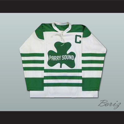 cc0f69ed3f3 Bobby orr parry sound shamrocks hockey jersey sewn new any size player or  number - Thumbnail