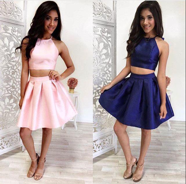 751cdda56b Cute 2 pieces short prom dresses