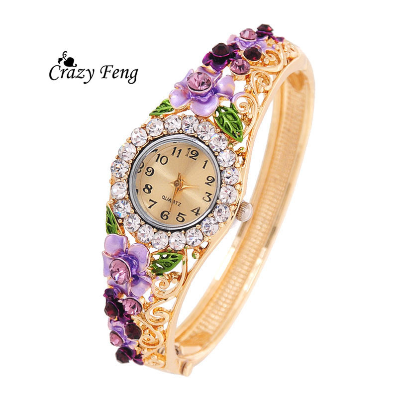 9f38c125263 Vintage relogio Quartz Watches Luxury Brand Women Relogio Feminino Bracelet  Fashion Gold Plated Crystal Montre Femme Watches NEW on Storenvy