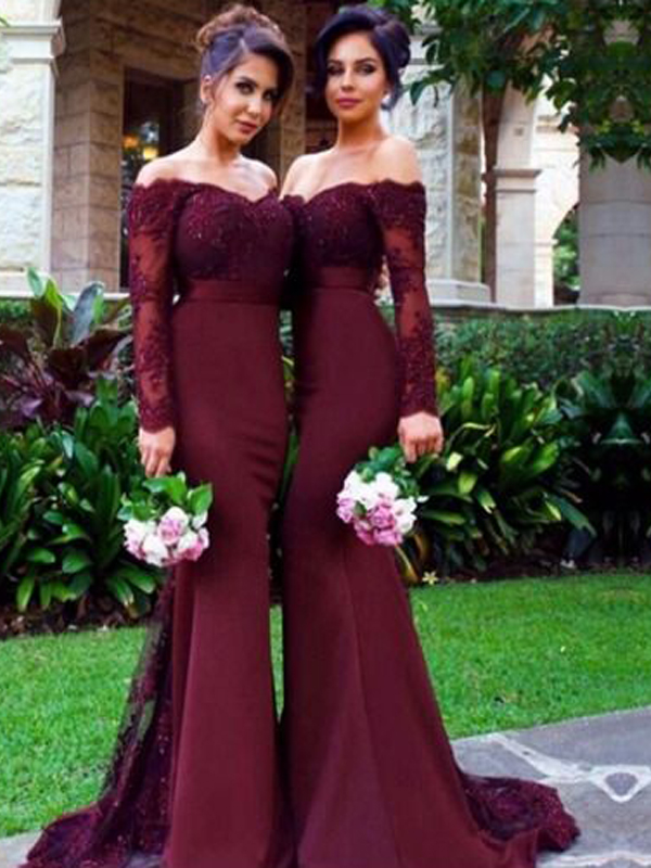 c255c0711ef Long Sleeve Bridesmaid dress