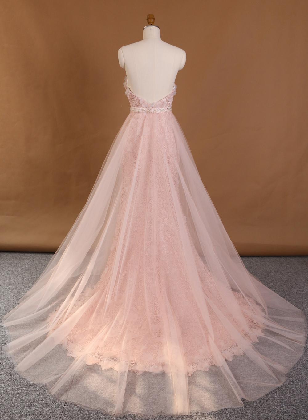Two Piece Wedding Dresslace Wedding Gownflower Wedding Dress