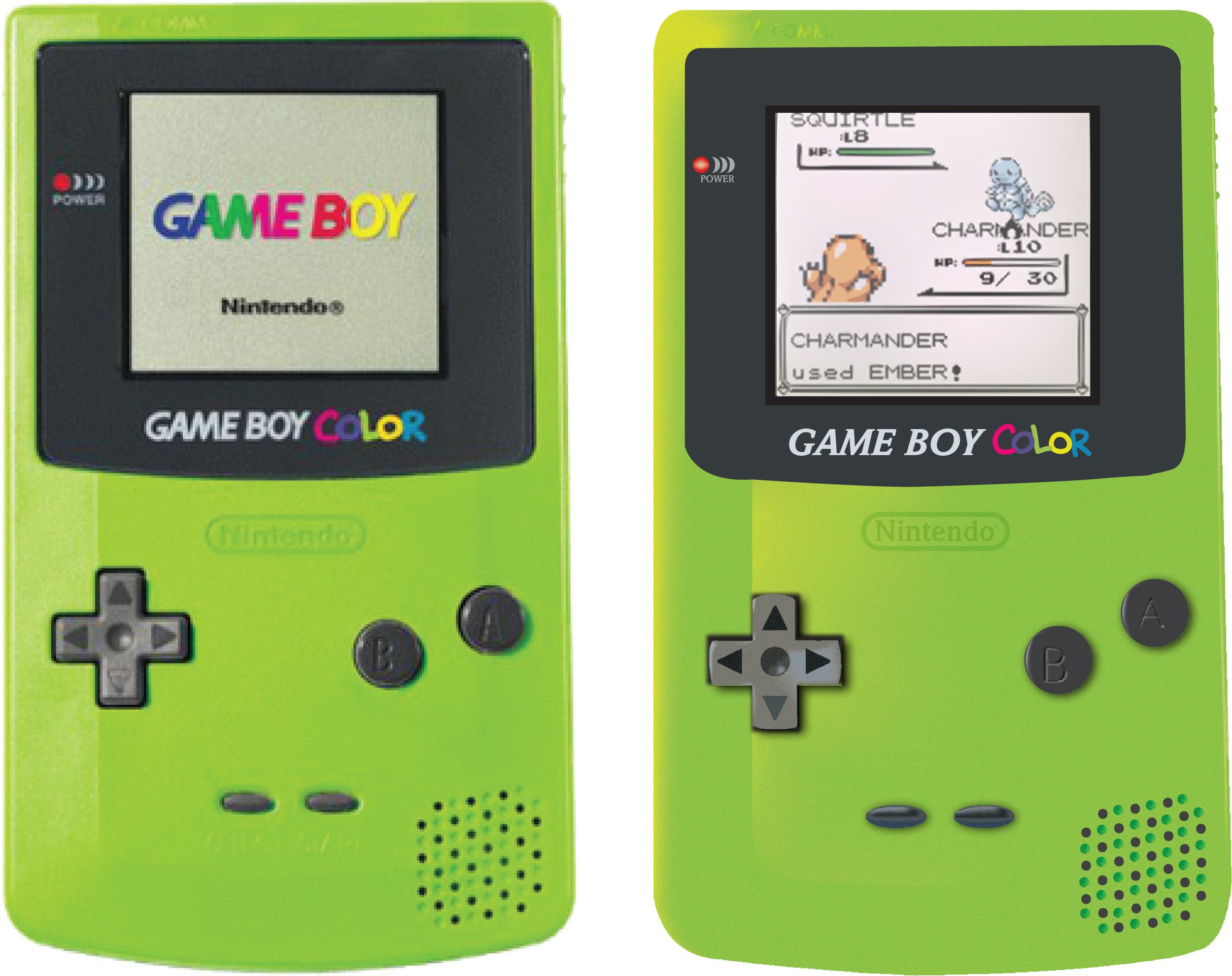 1998 Nintendo Game Boy Color Kiwi Green Handheld System On