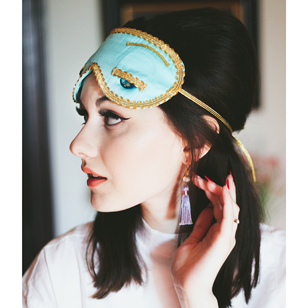 online sale latest trends of 2019 street price Audrey Hepburn-the Breakfast at Tiffany's Complete Holly Golightly Sleep  Set Tuxedo Shirt Silk Eye Mask Tassel Earplugs/Earrings sold by Hudiefly