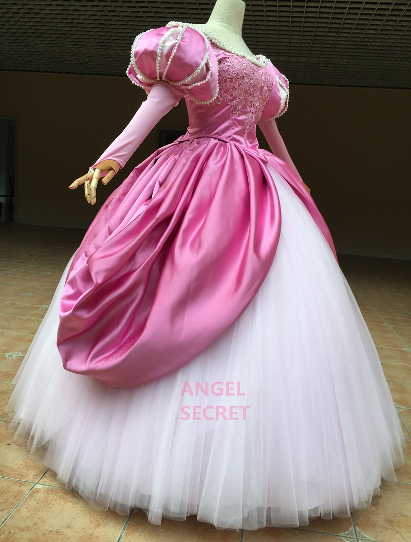 P390 Ariel Mermaid Cosplay Costume Dress Tailor Made Women Princess Pink Gown Angel Secret Online Store Powered By Storenvy