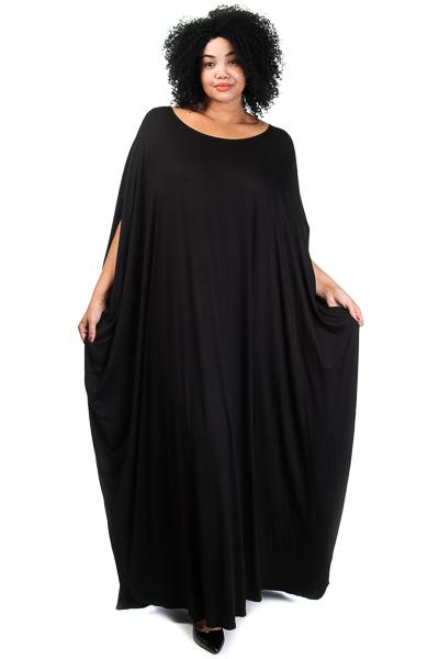 Size Jersey Harem Maxi Dress in Black, Blue or Orange on Storenvy