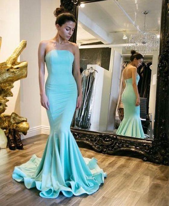 Baby Blue Mermaid Prom Dress Divine Design Formal Wear
