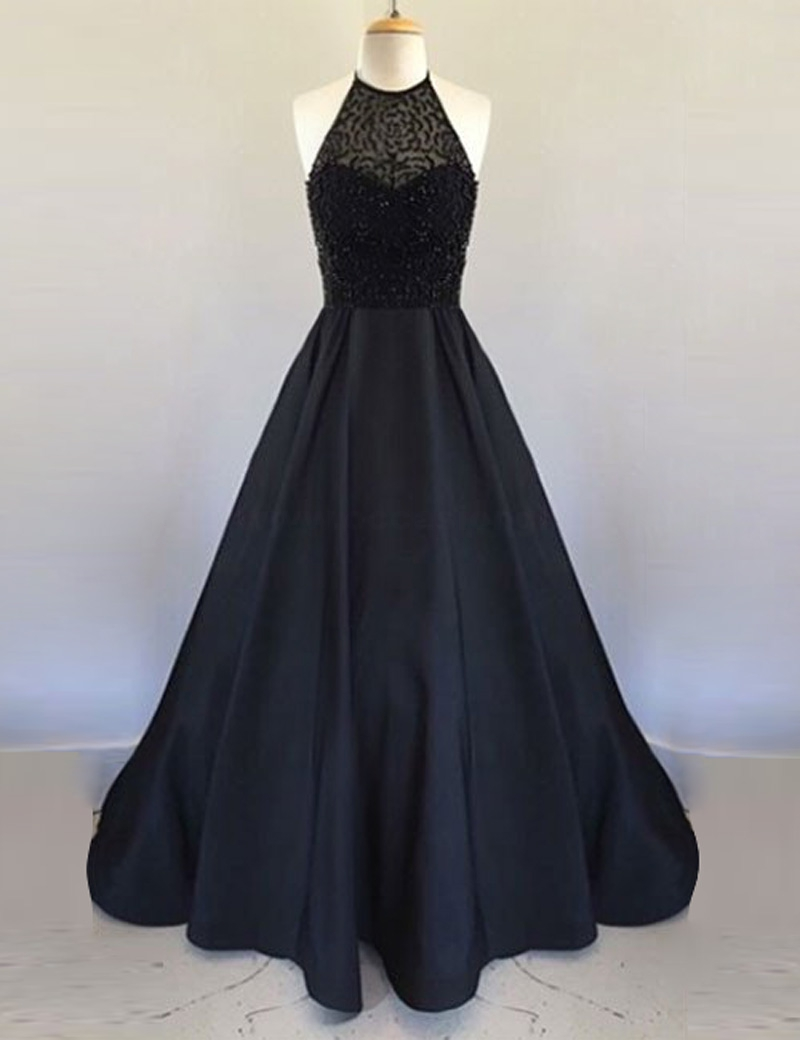 New Style Elegant Prom Dress Black Prom Gown Prom Dresses