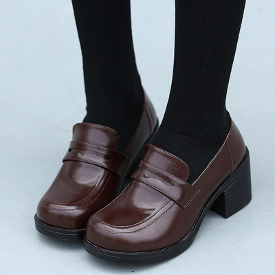 college wind uniforms high heel leather shoes · cute