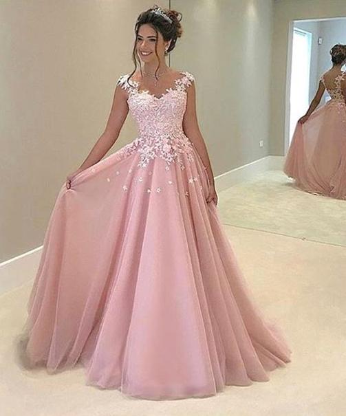 prom dress pink