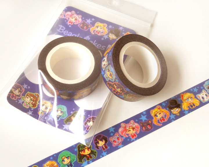 Sailor moon washi tape anime washi tape scrapbook for Decoration masking tape