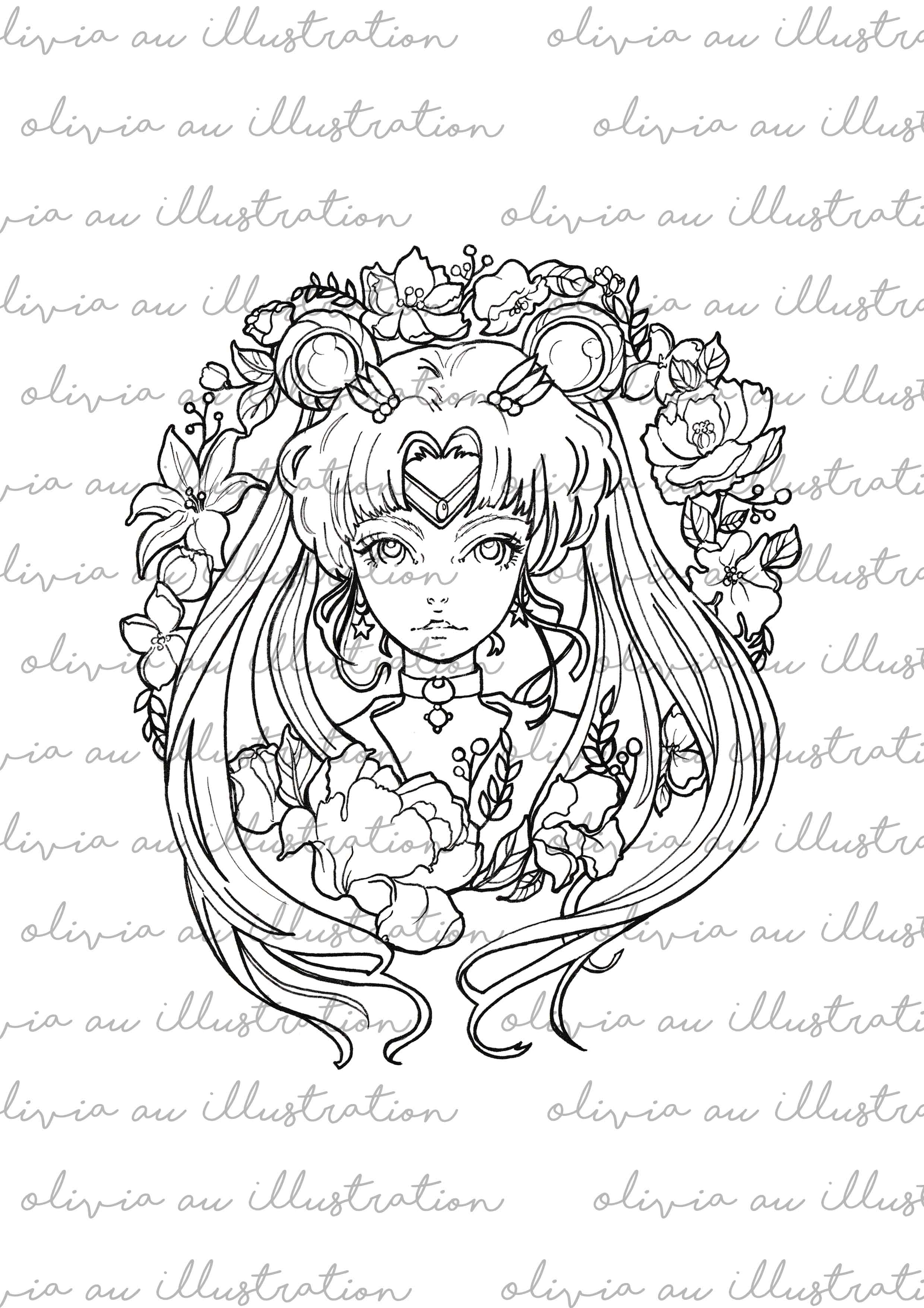 Digital Download Sailor Moon Printable Coloring Pages on Storenvy