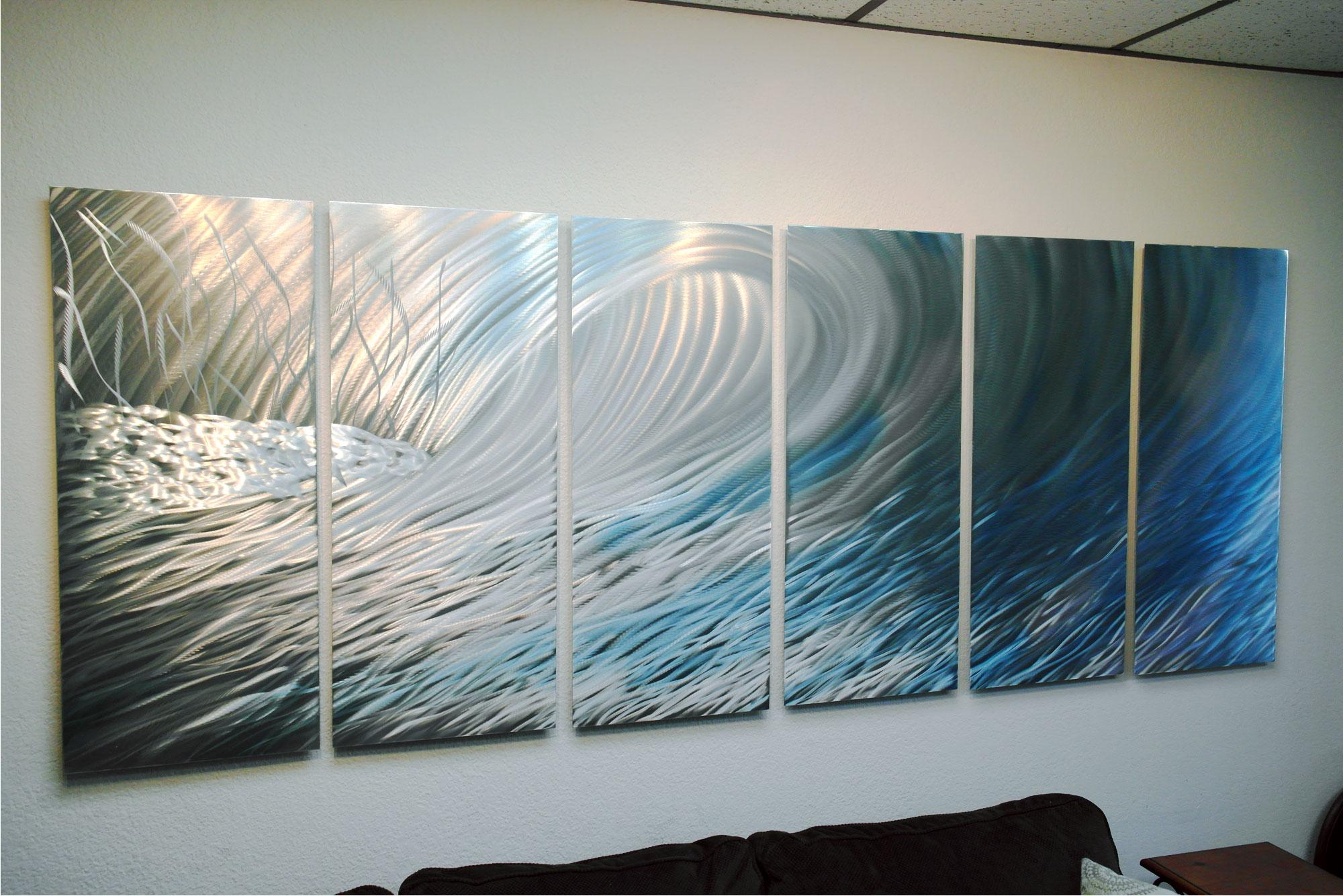 Abstract Metal Wall Art Contemporary Modern
