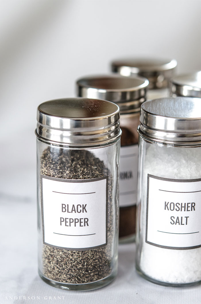 clean simple custom spice jar labels on storenvy