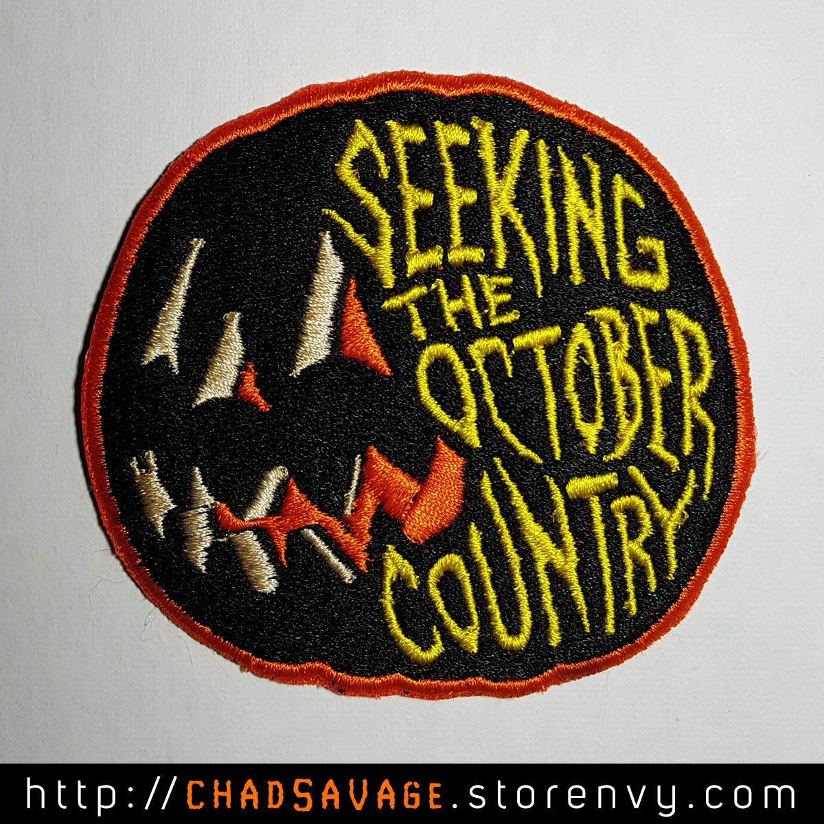 seeking the october country embroidered patch online store powered by storenvy. Black Bedroom Furniture Sets. Home Design Ideas