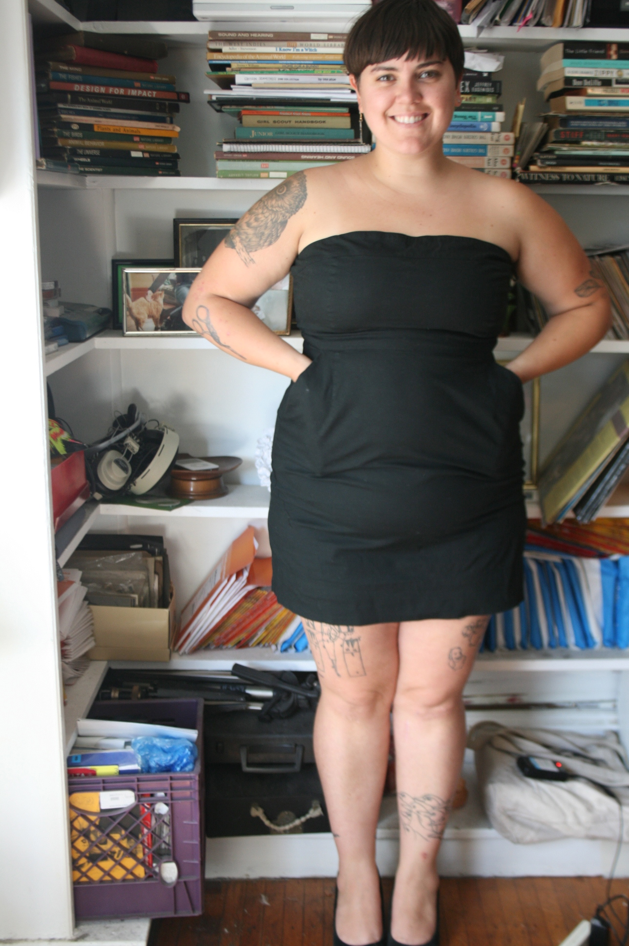 b53e4938802 Plus Size Black Strapless Tube Dress Size 16 NY CO on Storenvy