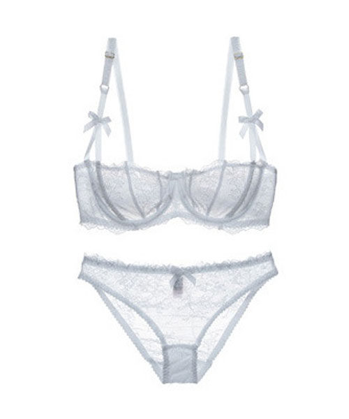 fce44e4219 Free Shipping - Sexy Lace Motif White Bra   Panty Set on Storenvy