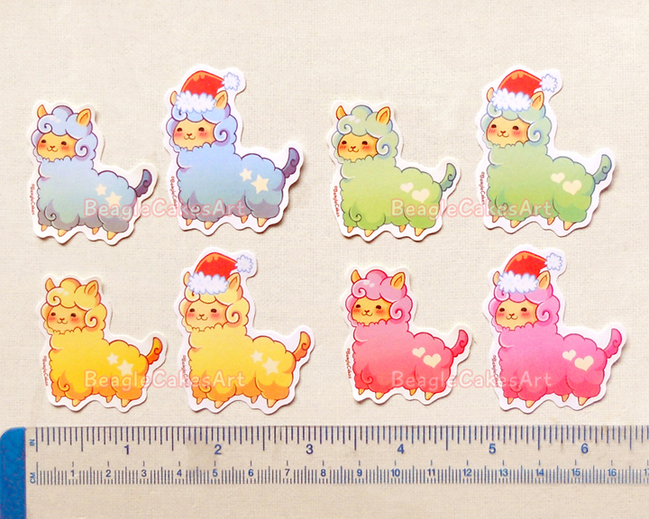 Alpaca stickers kawaii stickers llama stickers christmas stickers planner stickers