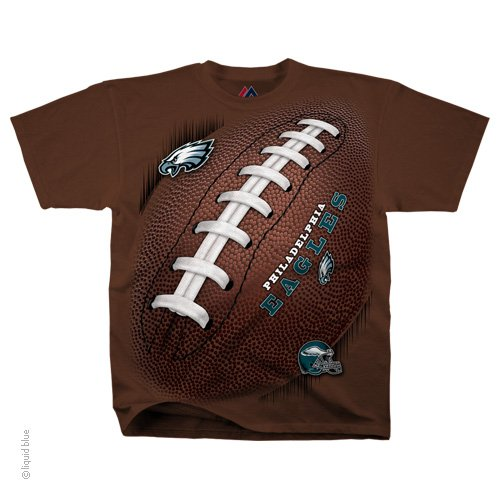 on sale 25423 5f373 (NEW-OFFICIALLY-LICENSED-N.F.L.PHILADELPHIA-EAGLES &  LACED-UP-FOOTBALL,VERY-NICE-GRAPHIC-PRINTED-PREMIUM-TEAM-TEE'S:) from  *(BACK-STREET-TEES & ...