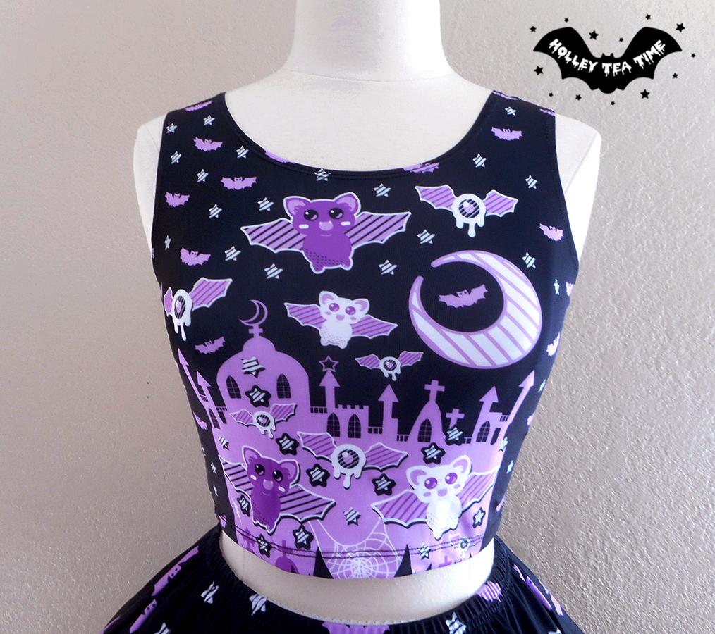 39819608fdabb ☆ Spooky Bats ☆ Crop Top ☆ Made To Order ✧ Creepy cute