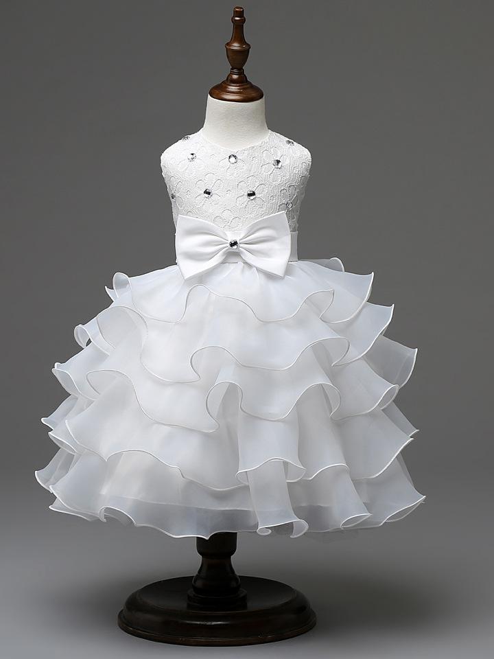 White flower girl dress bridesmaid wedding communion pageant party 2661166411 1933995610 original mightylinksfo