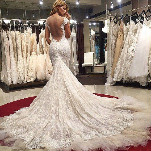 Sexy Wedding Dresses Mermaid Wedding Dress Lace Backless Wedding