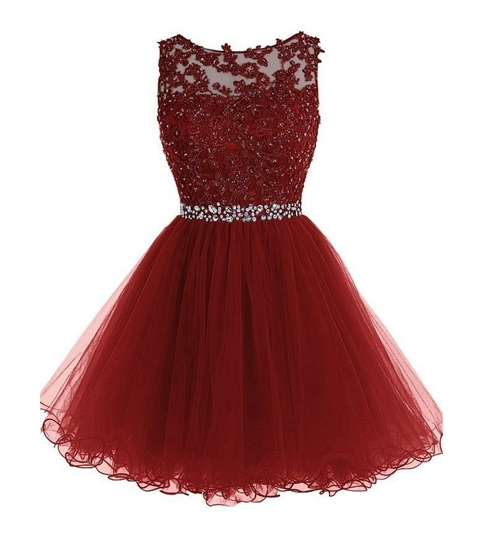 best shoes sold worldwide wide selection of colours and designs Cute maroon lace short prom dress,maroon evening dress,homecoming dresses  from Formal Dress