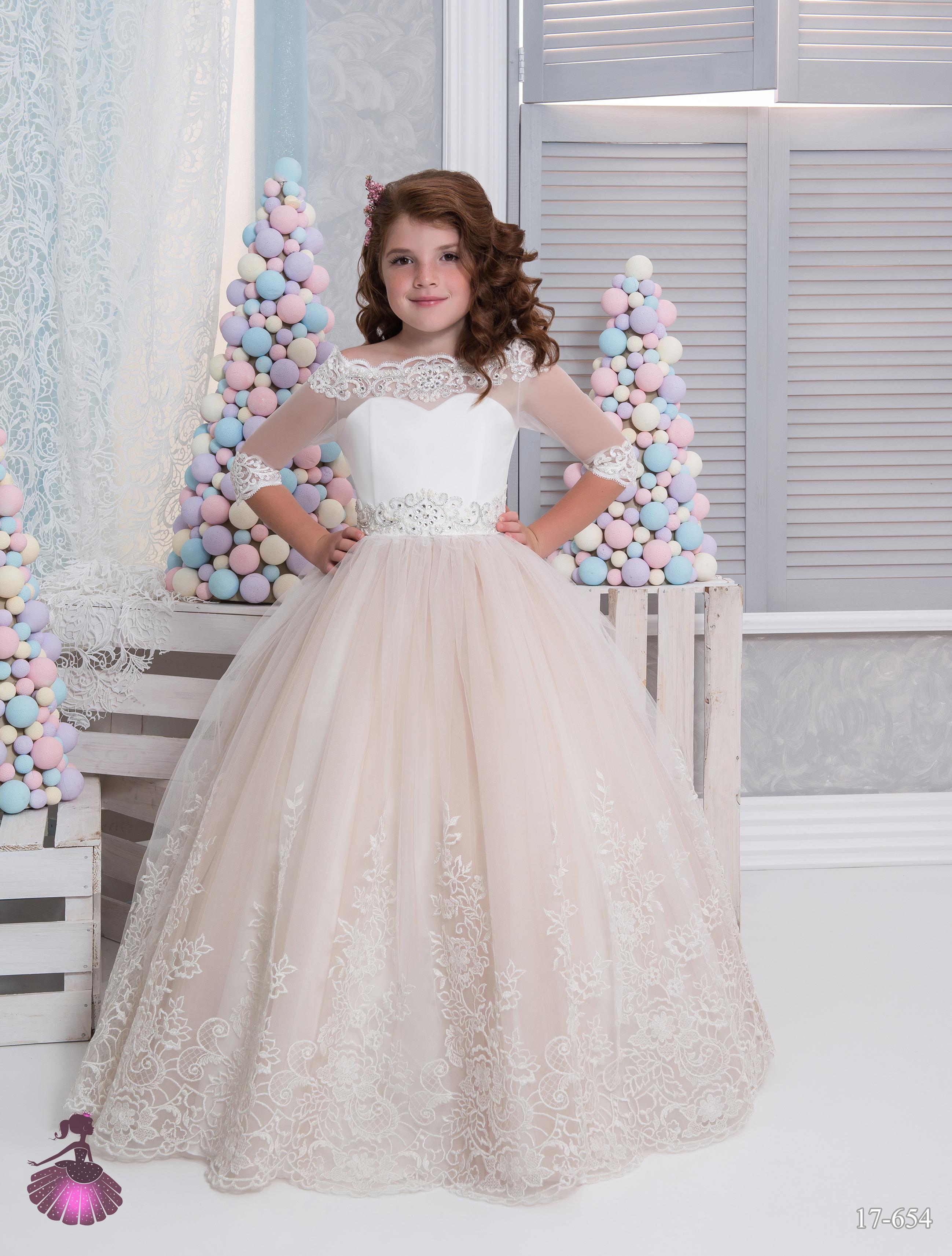 Flower Girls Dress Birthday Party Wedding Pageant Princess Prom Long Prom Dress