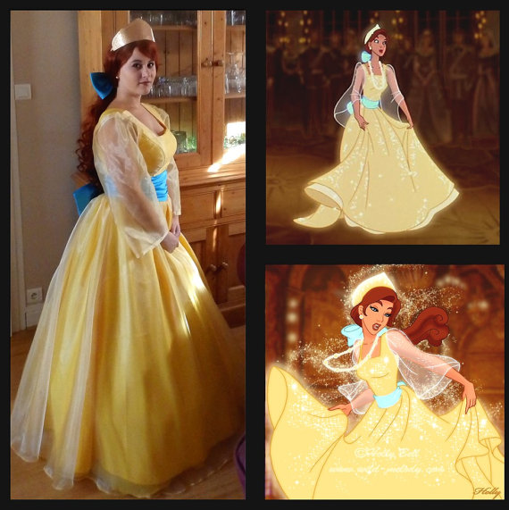 Anastasia cosplay costume Princess Anastasia yellow dress Halloween ...