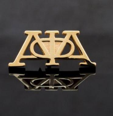 18K Gold Plated Alpha Greek Letters Lapel from Greek CertiPHIed Apparel