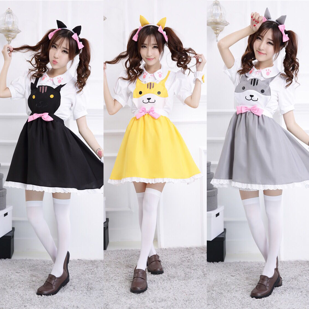 f6a404d3934 Lolita Cat Overalls Dress Cute Anime Cosplay Jumper DC90 · The ...