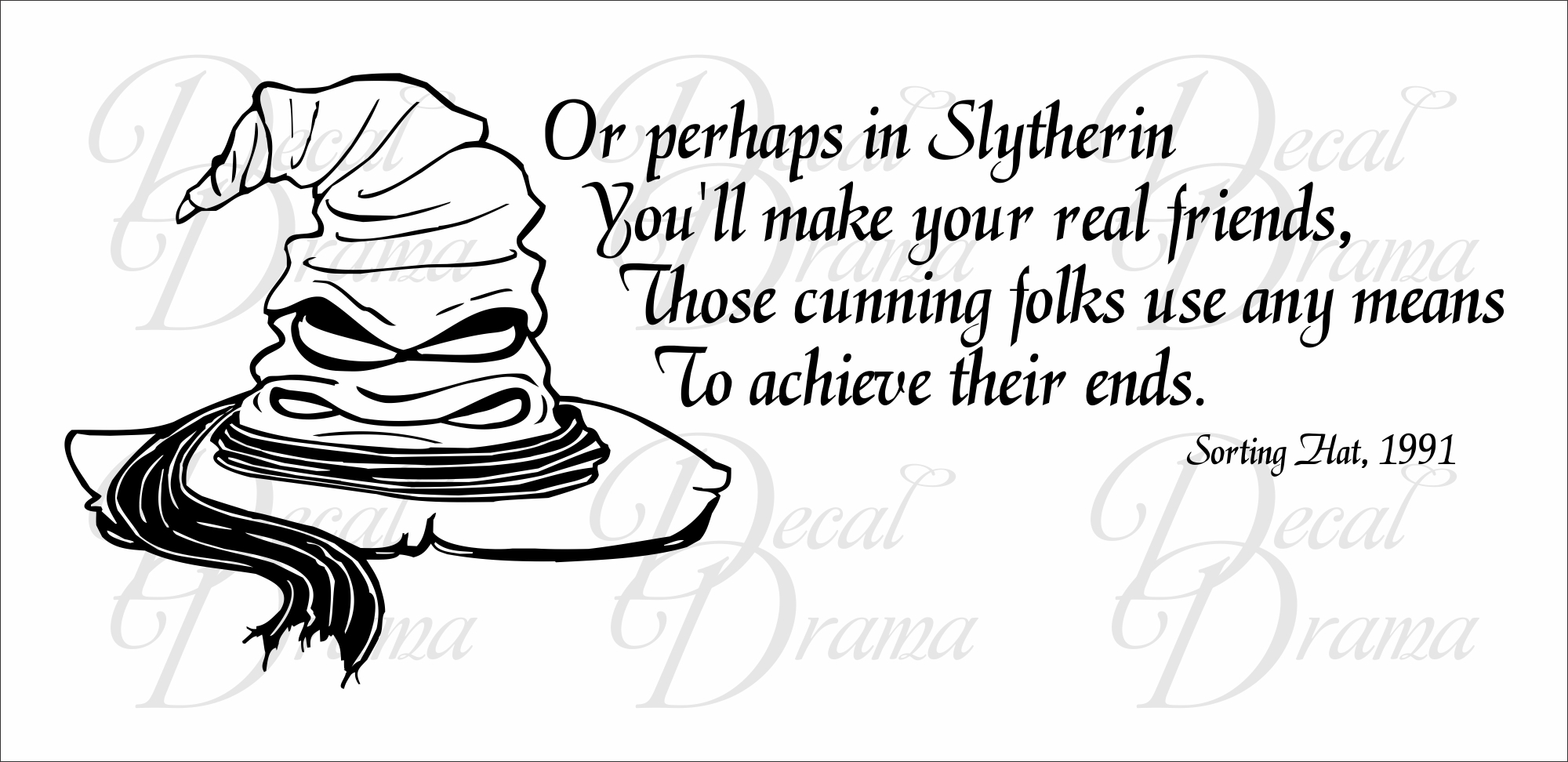 Slytherin Harry Potter Sorting Hat Song From Harry