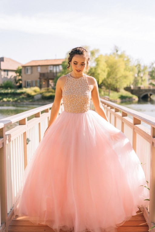 910b41e4001 Tulle prom dresses princess prom dress ball gown prom gown pink prom gown  elegant evening dress
