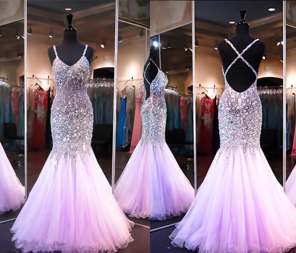 Sexy Custom Made Prom Dress Mermaid Heavy Beaded Prom Dress Backless Prom Dress Purple Prom Dress Xp99 From Queen Club