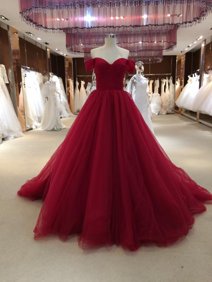 a97ebeaf8629 Sexy Off Shoulder Sleeves Prom Dress