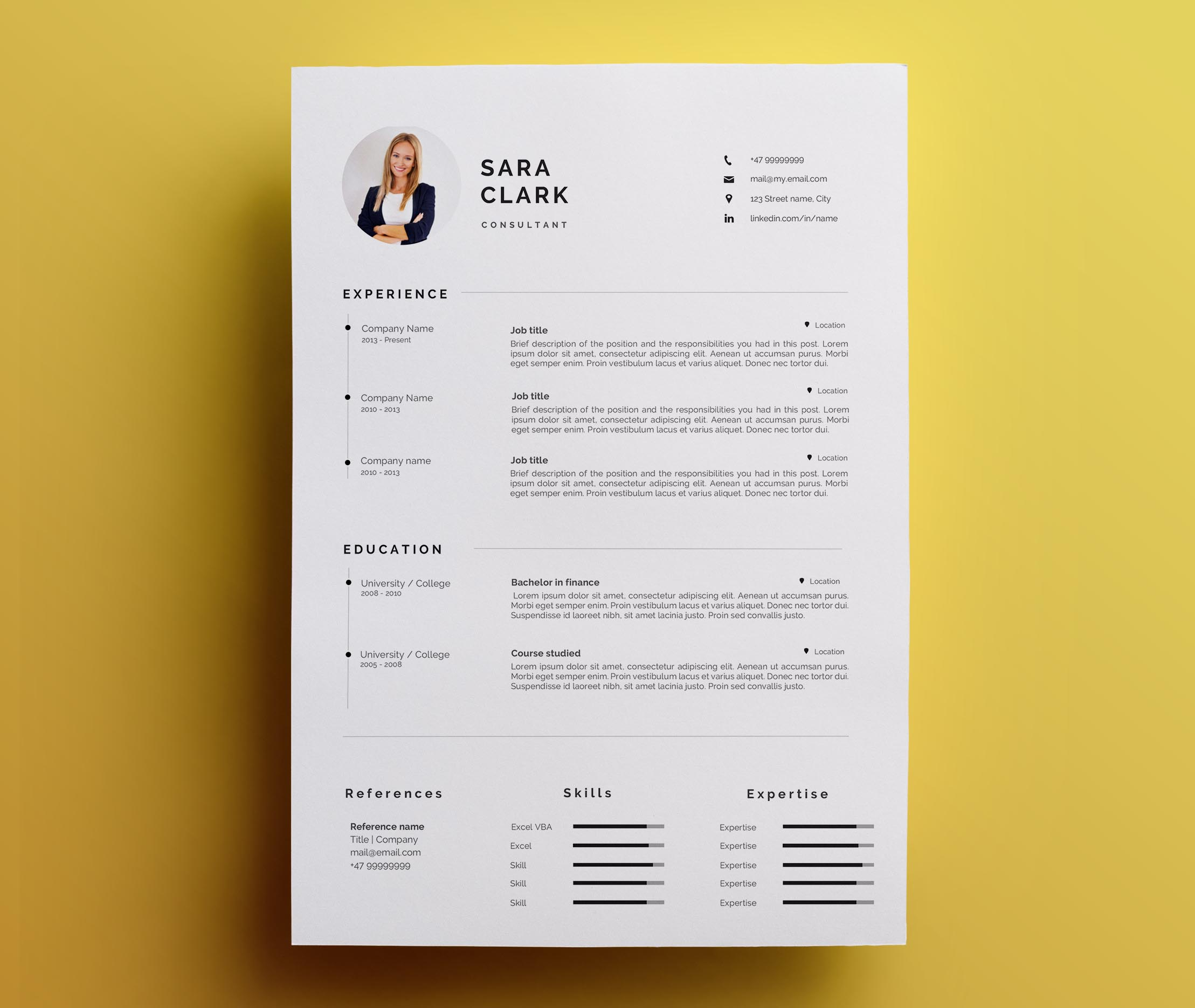 Modern Resume Template  amp  Cover