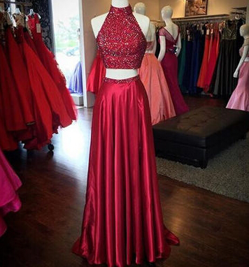 760f9e232e4 Red Sequins prom dress