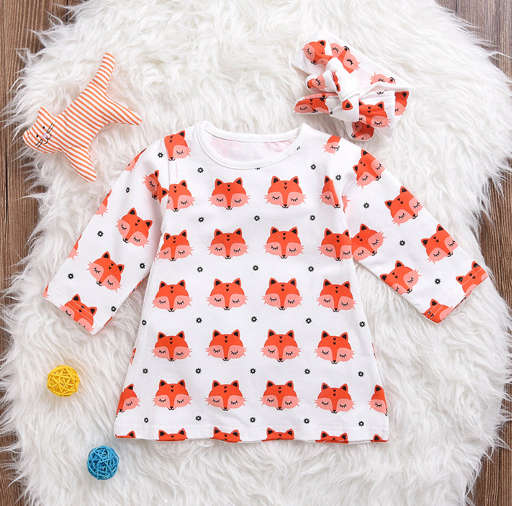 31ab62ea3 Free Shipping-Little Foxy Set (hairband+dress) on Storenvy