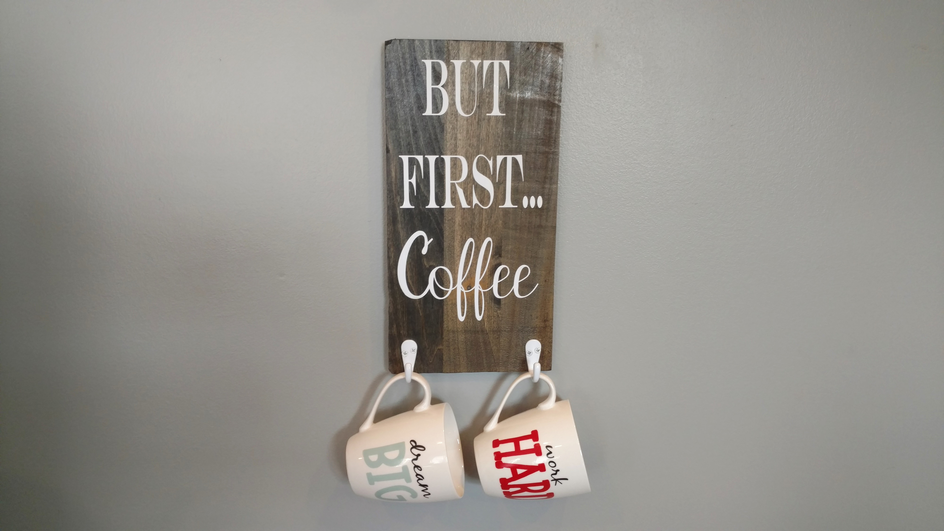 But First Coffee Mug Holder Sign Rustic Coffee Cup Holder Rustic