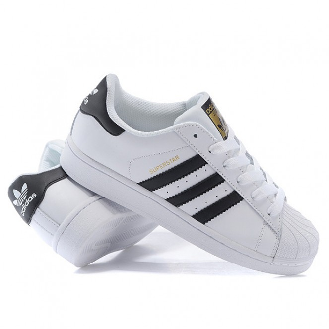 ... Fashion Adidas Superstar classic white black gold casual shoes -  Thumbnail 2 ... bc2f66a6a