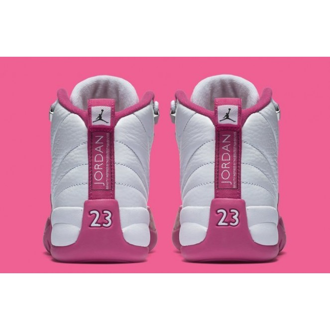 free shipping a48d6 071e1 Air Jordan 12 GS Valentine's Day Shoes White Rose from BELLDRESS