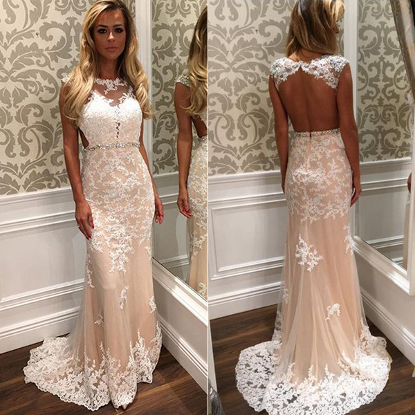 Elegant Scoop Mermaid Long Prom Dresses with Open Back Formal Evening Party Dress  on Storenvy c7c135778f43