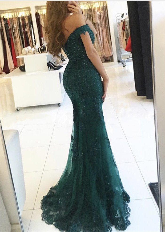 Green Long Party Dresses